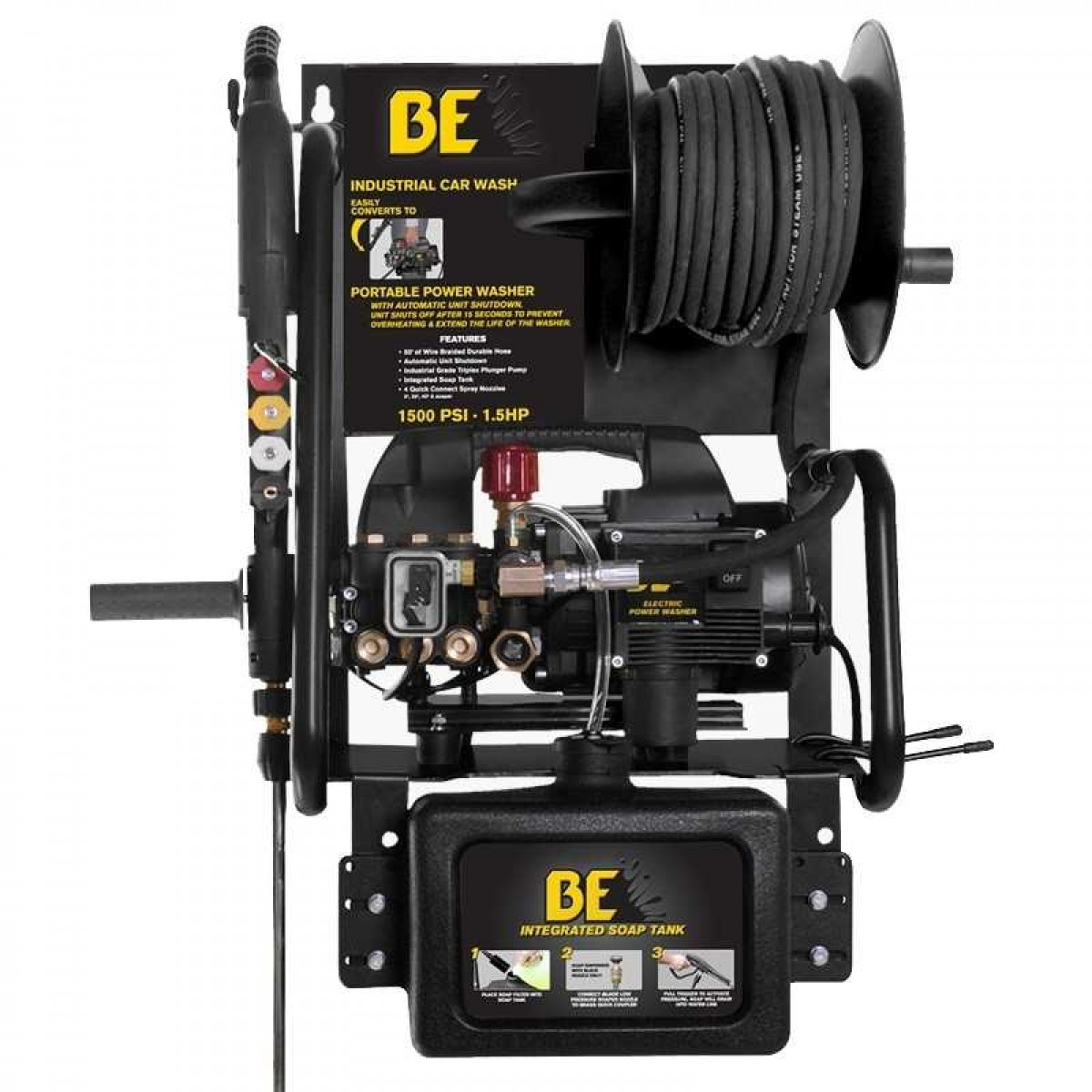 Be Pressure P1515epnw 1500 Psi Wall Mount Electric