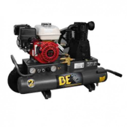BE Pressure 8 Gal Gasoline Single Stage Belt Drive AC658HB