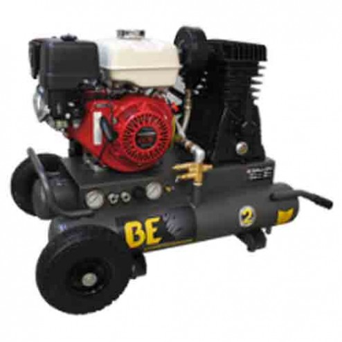 BE Pressure 8 Gal Gasoline Two Stage Belt Drive AC908HB