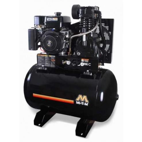 Mi-T-M 80.0 Gal Gasoline Tank Mount Two-Stage Air Compressor Honda Engine