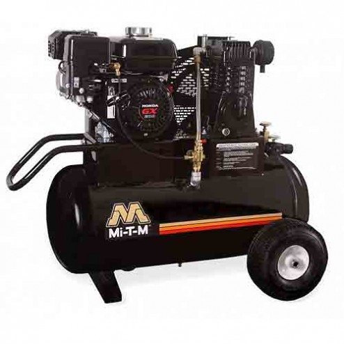 Mi-T-M 20.0 Gal Gasoline Single Stage Air Compressor Honda AM1-PH65-20M