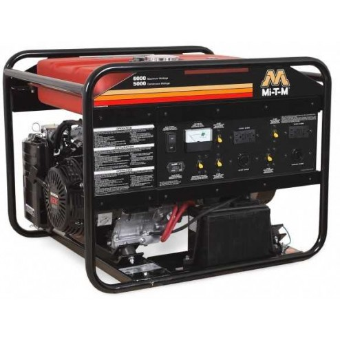 Mi-T-M 6000 Watt Gasoline Portable Generator Honda GEN-6000-0MHE