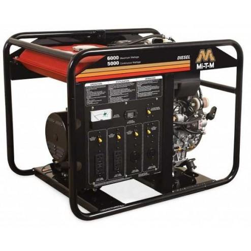 Mi-T-M 6000 Watt Diesel Portable Generator Kohler GEN-6000-0MKD