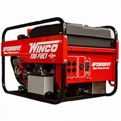 Winco HPS9000VE Tri-Fuel Portable Generator