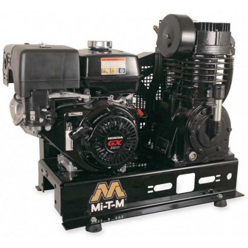 Mi-T-M Base-mount Two stage Honda Gas Air Compressor ABS-13H-B