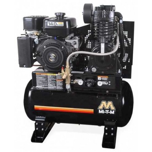 Mi-T-M 80-gallon Two stage Subaru Gas Air Compressor ABS-14S-80H