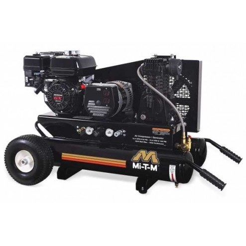Mi-T-M 8 Gallon Single stage Honda Gas Air Compressor/ Generator Combo AG1-PH65-08M1