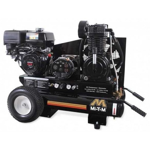 Mi-T-M 8 Gallon Two stage Honda Gas Air Compressor/ Generator Combo AG2-PH13-08M1