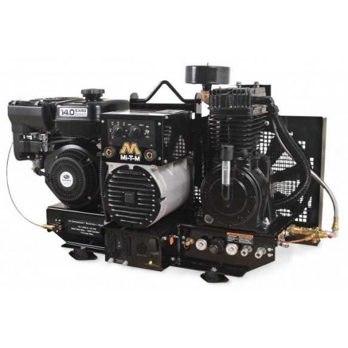 Mi-T-M Base-mount Two stage Subaru Gas Air Compressor/ Generator/ Welder Combo AGW-SR14-B