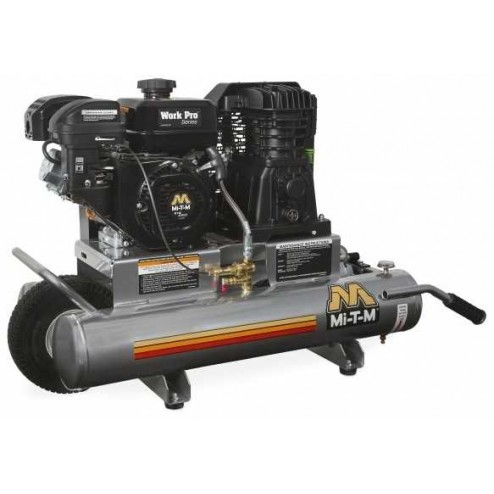Mi-T-M 8-gallon Single stage Mi-T-M Gas Air Compressor AM1-PM06-08WP
