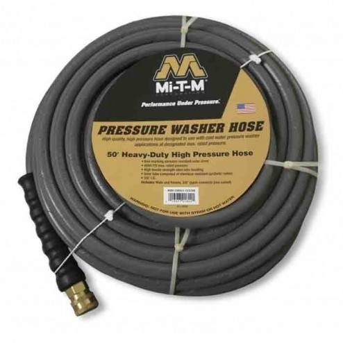 Mi-T-M 851-0338 50ft x 3?8-in non-marking hose