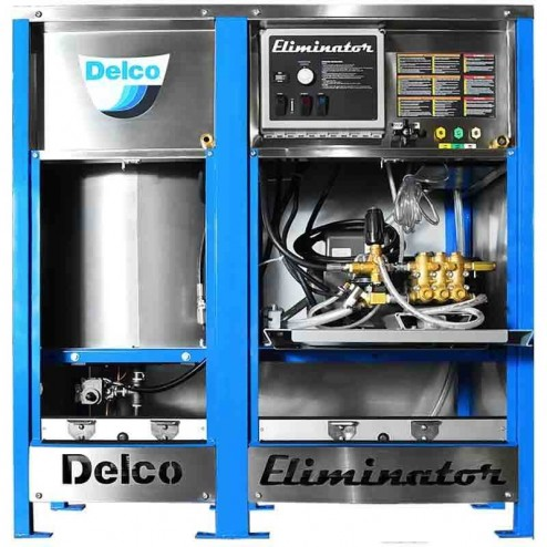 Delco Eliminator 65036 3000 PSI 230V 1-Phase Electric Motor /NG Burner Hot Pressure washer