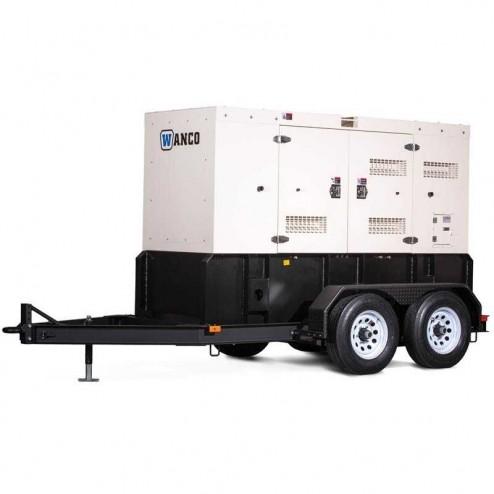 Wanco WSP40 38 kVA/32 kW Generator/Trailer Mounted