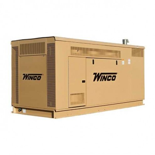 Winco ULPSS90 90kW Gaseous Standby Generator /Enclosed