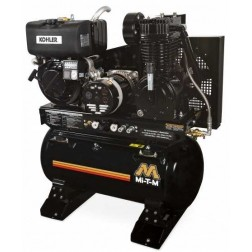 Mi-T-M 30-gallon Two stage Kohler Gas Air Compressor/Generator Combo AG2-SKD9-30M