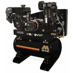 Mi-T-M 30-gallon Two stage Mi-T-M Gas Air Compressor/Generator Combo AG2-SM14-30M