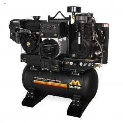 Mi-T-M Base-mount Two stage Honda Gas Air Compressor/ Generator/ Welder Combo AGW-SM14-30M