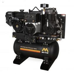 Mi-T-M Base-mount Two stage Honda Gas Air Compressor/ Generator/ Welder Combo AGW-SM14-30M